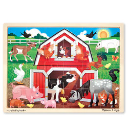 Melissa & Doug Barnyard Wooden Jigsaw Puzzle 24pc