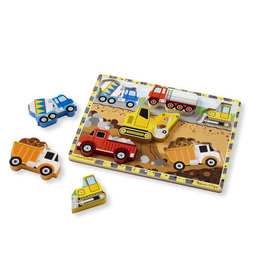 Melissa & Doug Chunky Wooden Puzzle Construction