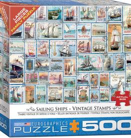 Eurographics Inc Sailing Ships - Vintage Stamps 500pc Puzzle