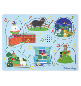 Melissa & Doug Sing-Along Nursery Rhymes Song Puzzle Blue