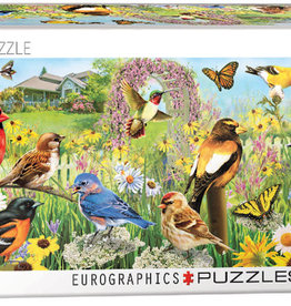 Eurographics Inc Backyard Birds 1000pc Panoramic Puzzle