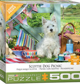 Eurographics Inc Scottie Dog Picnic 500pc Puzzle