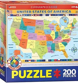 Eurographics Inc Map of the US 200pc Puzzle