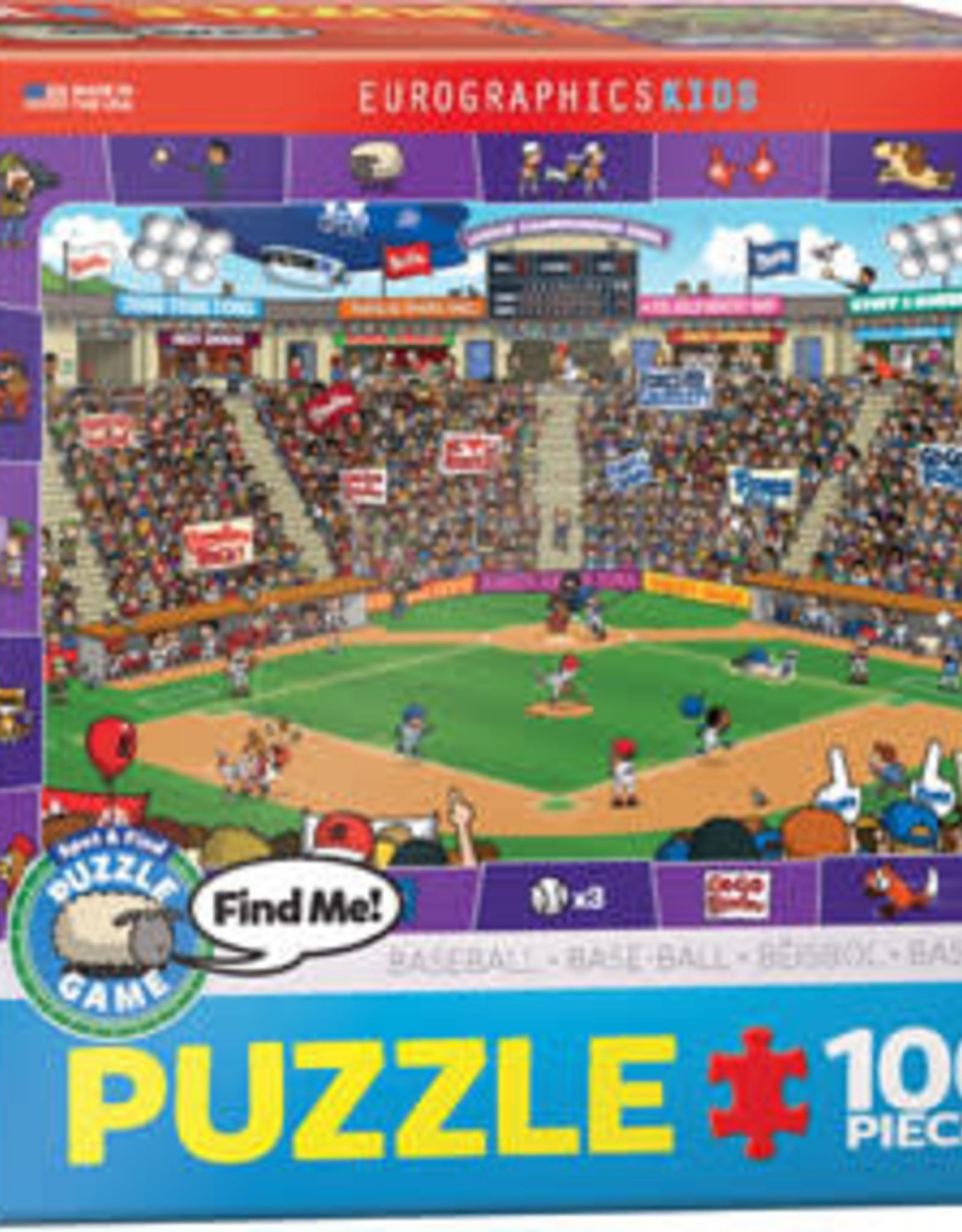 Eurographics Inc Baseball -Spot & Find 100pc Puzzle