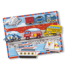 Melissa & Doug Chunky Wooden Puzzle Vehicles