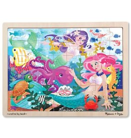 Melissa & Doug Mermaid Fantasea Wooden Jigsaw Puzzle 48pc
