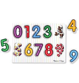 Melissa & Doug Lift & See Numbers Peg Puzzle