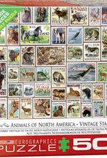 Eurographics Inc Animals of North America - Vintage Stamps 500pc Puzzle