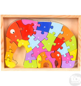 The Toy Network Wooden Elephant Letter 26pc Puzzle