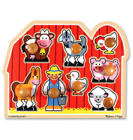 Melissa & Doug Farm Friends Jumbo Knob Puzzle