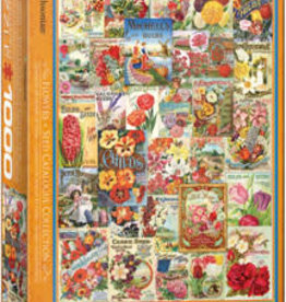 Eurographics Inc Flowers - Seed Catalogue 1000pc Puzzle
