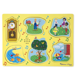 Melissa & Doug Sing-Along Nursery Rhymes Song Puzzle Yellow