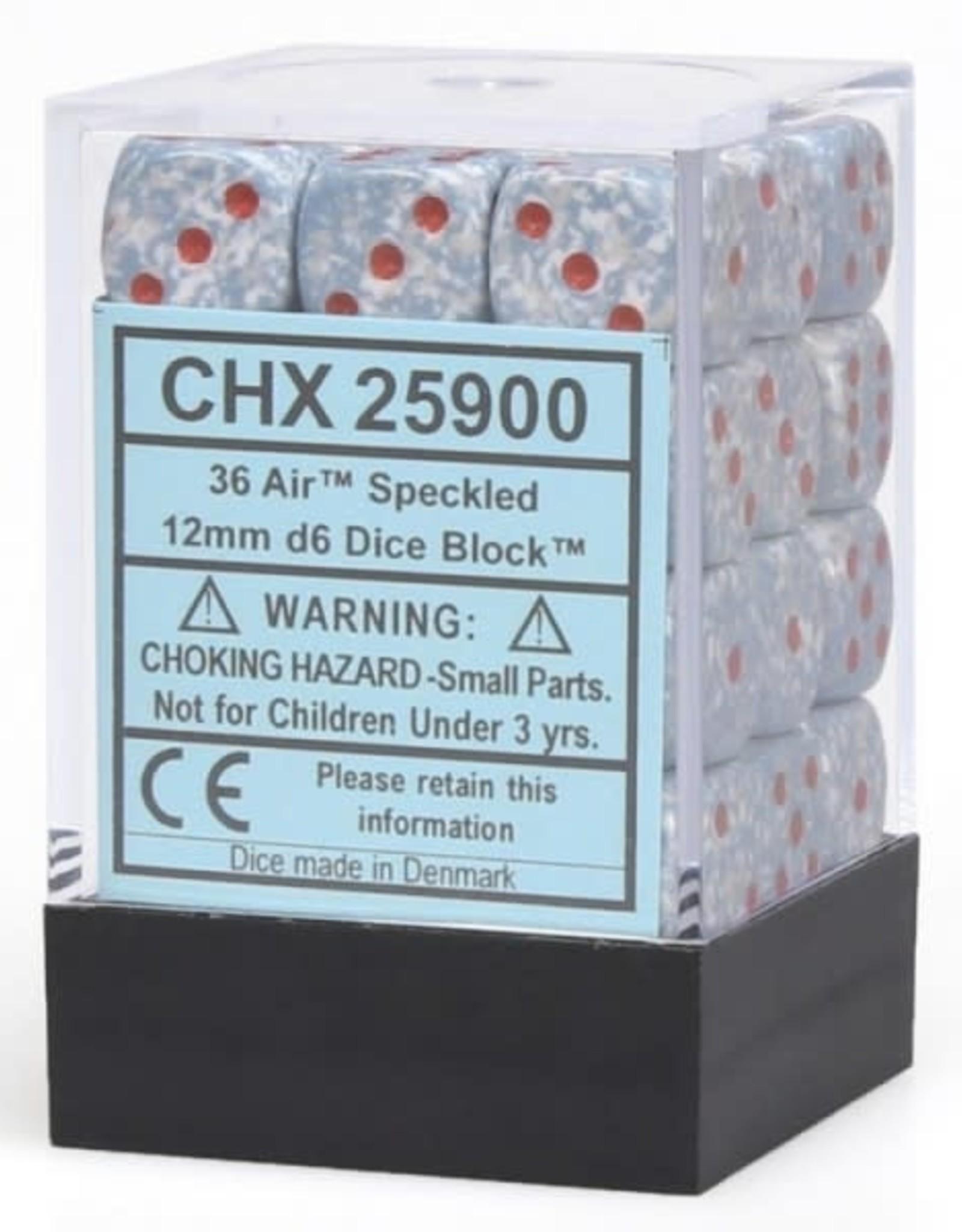 Chessex Air Elemental 12mm D6 Dice Block (36)