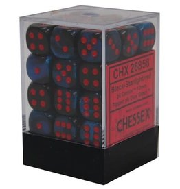Chessex Black-Starlight/red Gemini 12mm d6 dice set