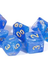 Chessex Blue w/gold Vortex Poly 7 dice set