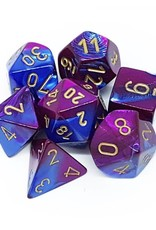 Chessex Blue-Purple/gold Gemini Poly 7 dice set