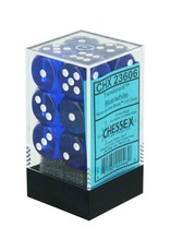 Chessex Blue/white Translucent 16mm D6 dice set