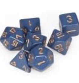 Chessex Dusty Blue/copper Opaque Poly 7 dice set