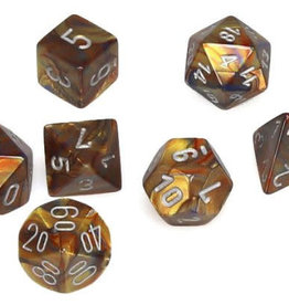 Chessex Gold/silver Lustrous Poly 7 dice set