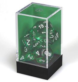 Chessex Green/ white Translucent Poly 7 dice set