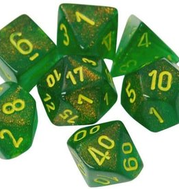 Chessex Maple Green/yellow Borealis Poly 7 dice set