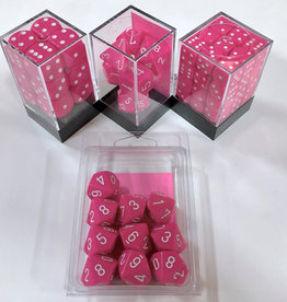 Chessex Pink/white Opaque Poly 7 dice set