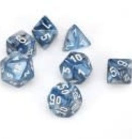 Chessex Slate/white Lustrous Poly 7 dice set