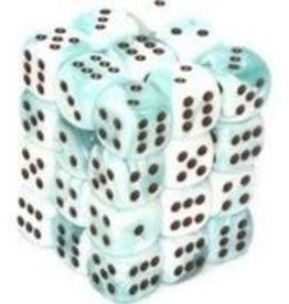 Chessex Teal-White/black Gemini 12mm d6 dice set