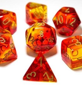 Chessex Red-Yellow/gold Gemini Poly 7 dice set