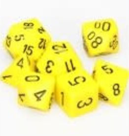 Chessex Yellow w/black Opaque Poly 7 dice set