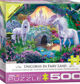 Eurographics Inc Unicorns in Fairy Land 500pc Puzzle