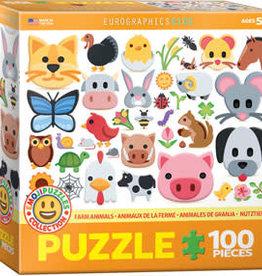 Eurographics Inc Farm Animals Emoji 100pc Puzzle
