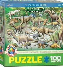 Eurographics Inc Dinosaurs 100pc Puzzle