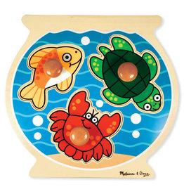 Melissa & Doug Fish Bowl Jumbo Knob Puzzle