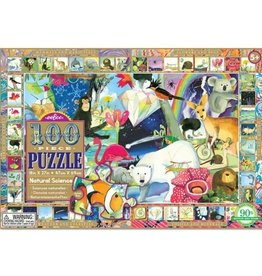 Eeboo Natural Science 100pc puzzle with poster included