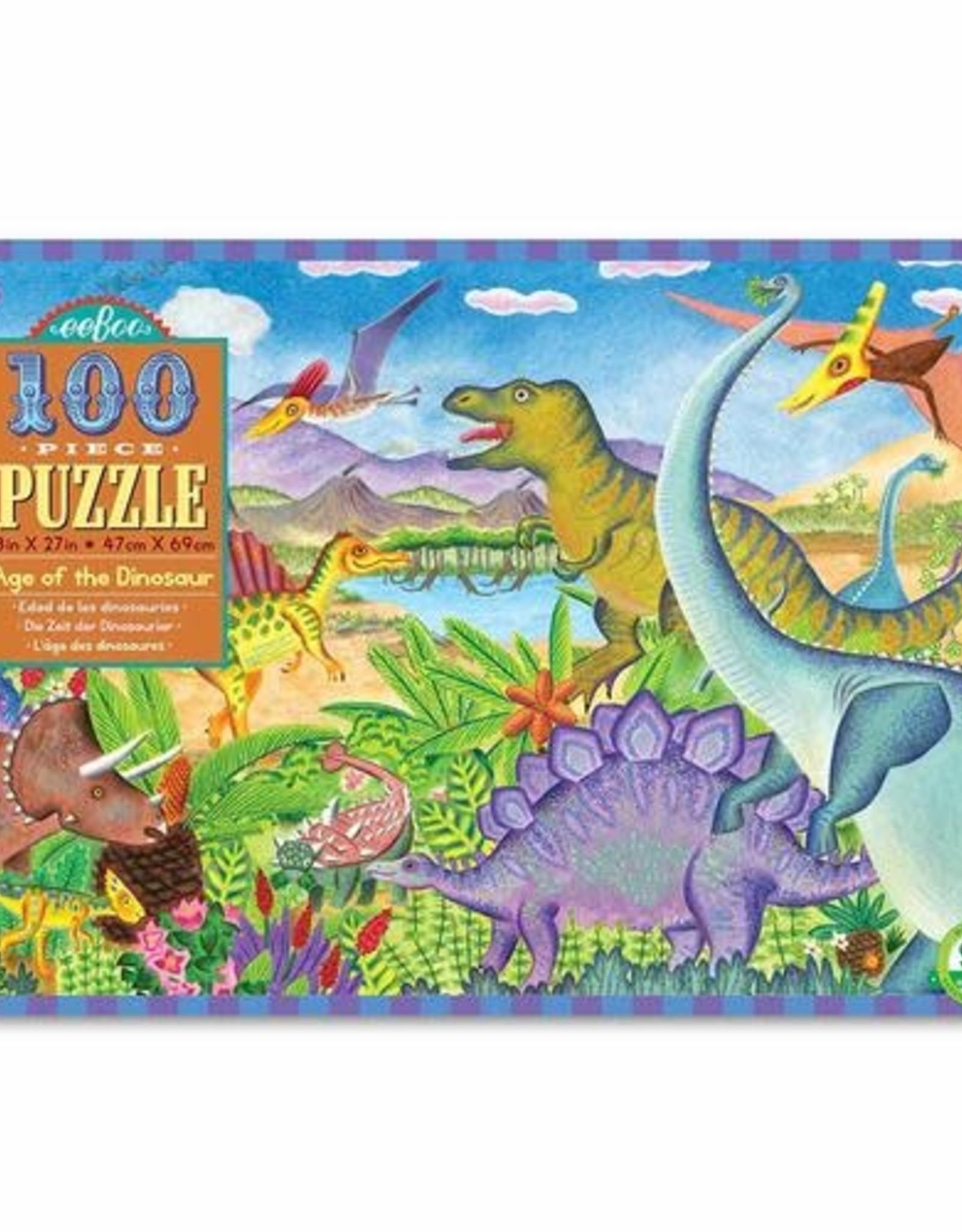 Eeboo Age of the Dinosaur 100 Piece Puzzle