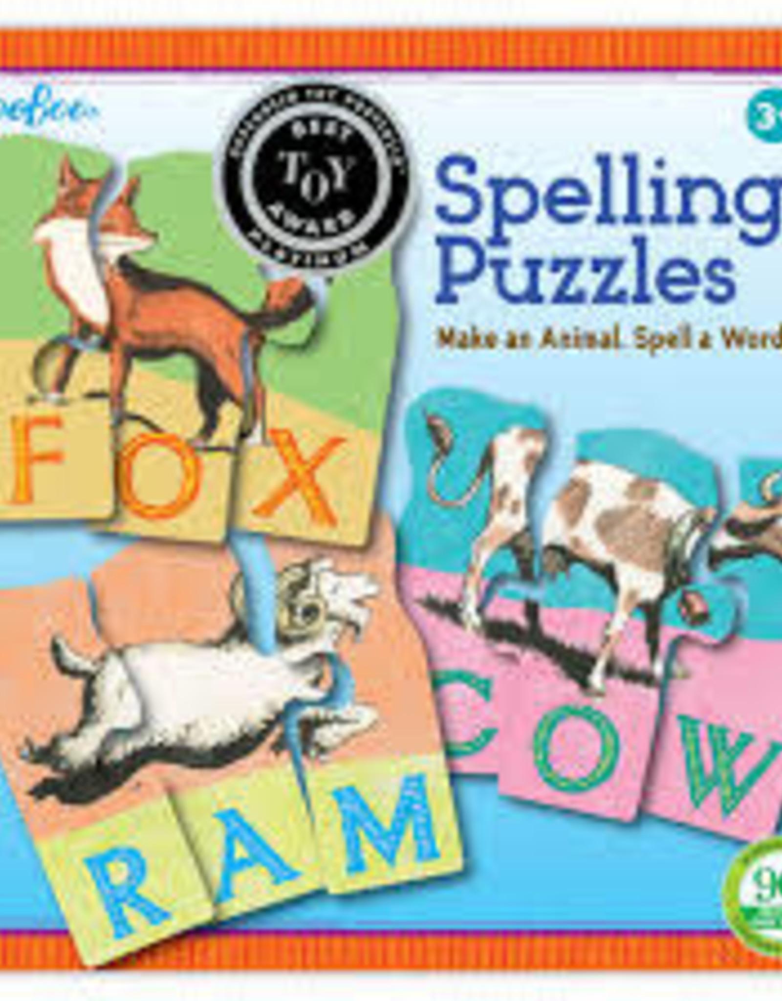 Eeboo Animal Spelling Puzzles  3rd edition