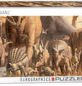 Eurographics Inc Dinosaurs  1000pc Panoramic Puzzle
