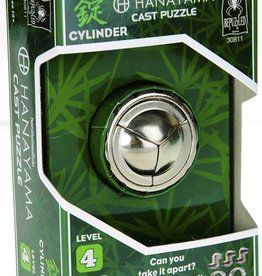 Bepuzzled Cylinder Hanayama Cast Metal Brain Teaser Puzzle (Level 4)