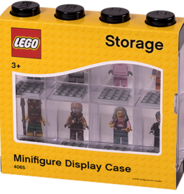 LEGO LEGO Minifigure Display Case 8 (4 Knob) - Black