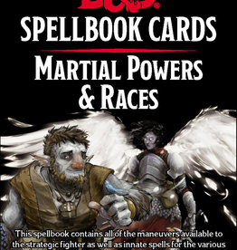 GaleForce 9 D&D5e Spellbook Cards: 2e Martial & Race