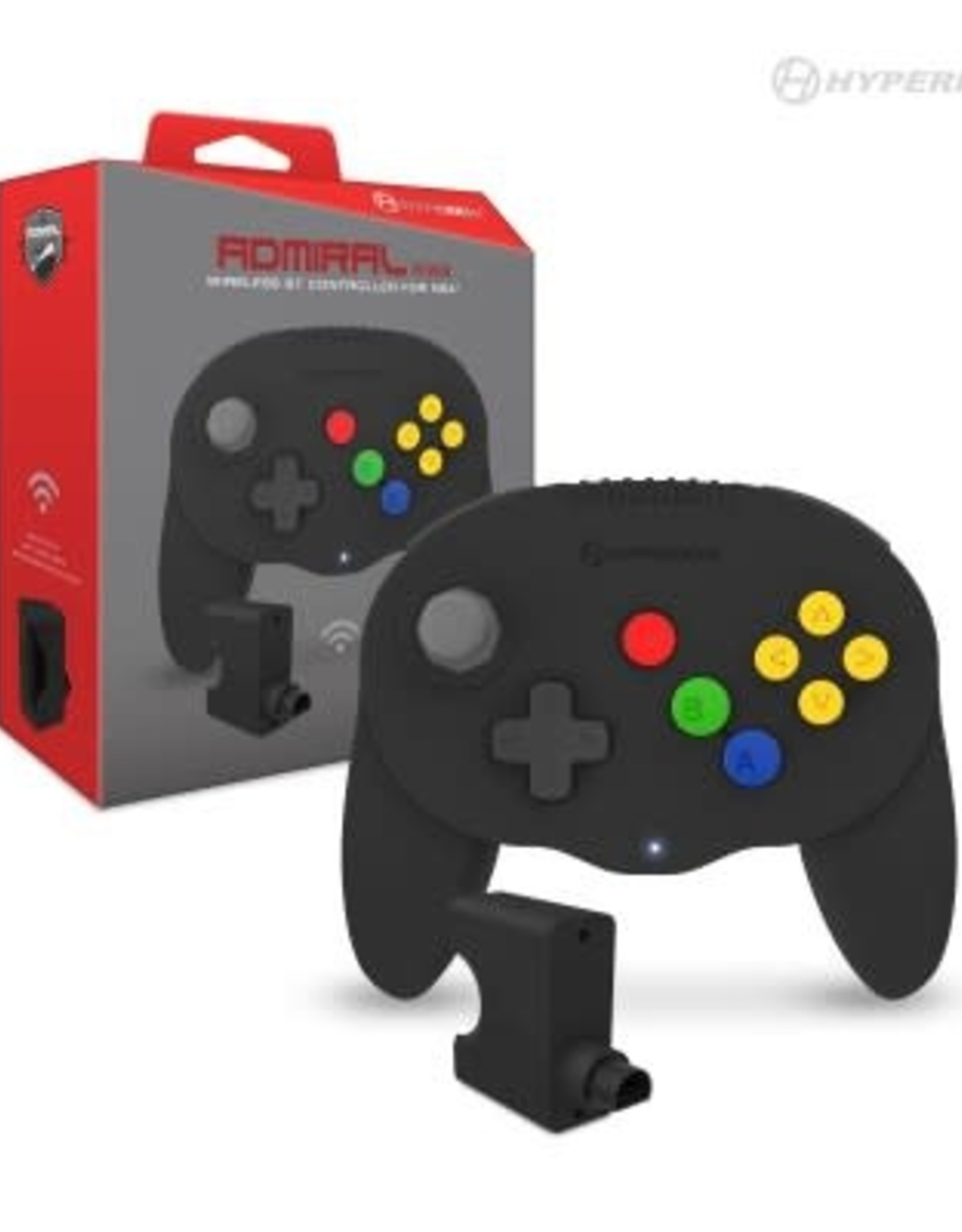 "Hyperkin ""Admiral"" Premium BT Controller For N64®/ Nintendo Switch®/ Nintendo Switch® Lite/ PC/ Mac®/ Android® (Black)"