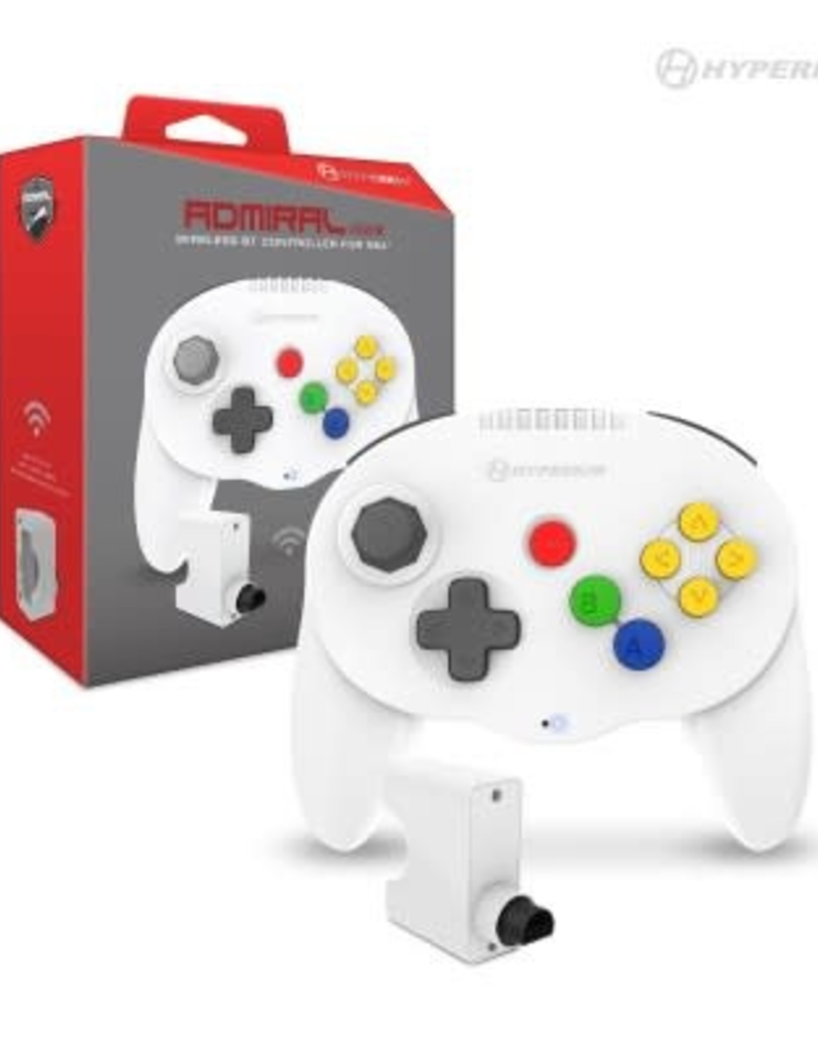 "Hyperkin ""Admiral"" Premium BT Controller For N64®/ Nintendo Switch®/ Nintendo Switch® Lite/ PC/ Mac®/ Android® (White)"