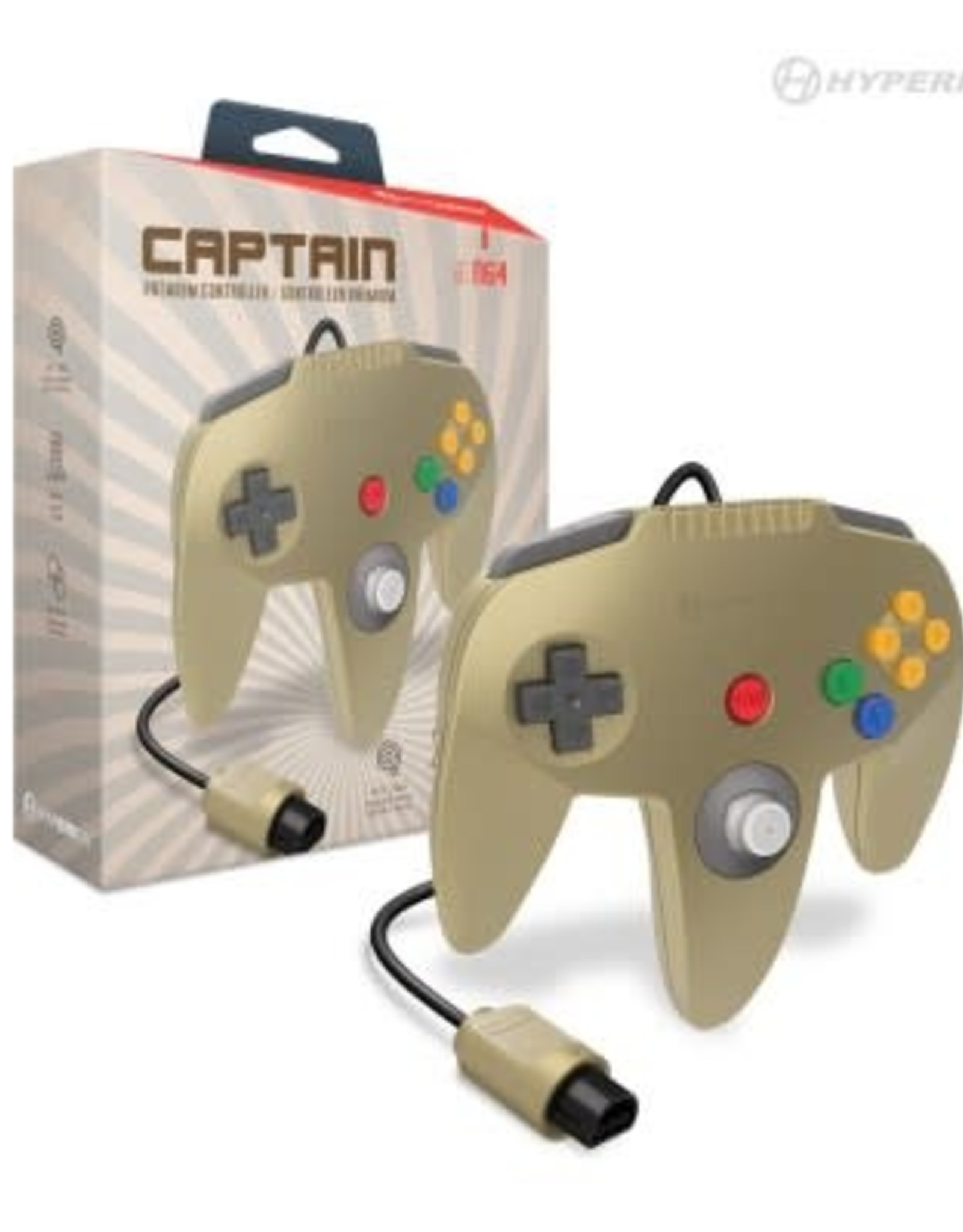 "Hyperkin ""Captain"" Premium Controller For N64® (Gold)"