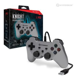 "Hyperkin ""Brave Knight"" Premium Controller for PS3/ PC/ Mac (Silver)"