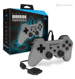 "Hyperkin ""Brave Warrior"" Premium Controller for PS2 (Silver)"