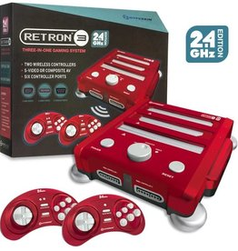 Hyperkin RetroN 3 Gaming Console 2.4 GHz Edition for Super NES®/ Genesis®/ NES® (Laser Red)