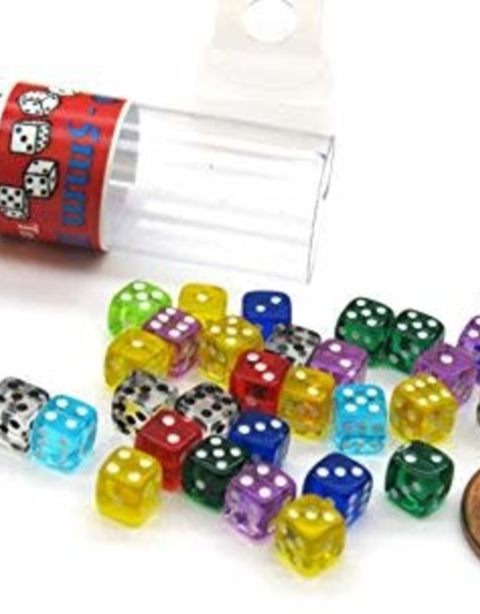 Koplow 5mm D6 Dice Tube Translucent