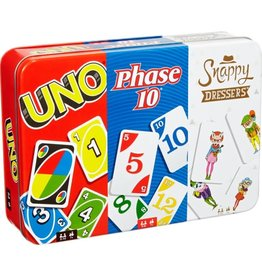 mattel Games UNO, Phase 10, Snappy Dressers Collectors Tin
