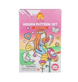 Tiger Tribe Fairy Friends Hidden Pattern Colouring Set